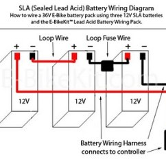 Model A 12 Volt Wiring Diagram Harbor Breeze Pawtucket Ceiling Fan Three Batteries In Series Schematic Battery Set Volts Total 36 Maintenance Free Schematics For Cars