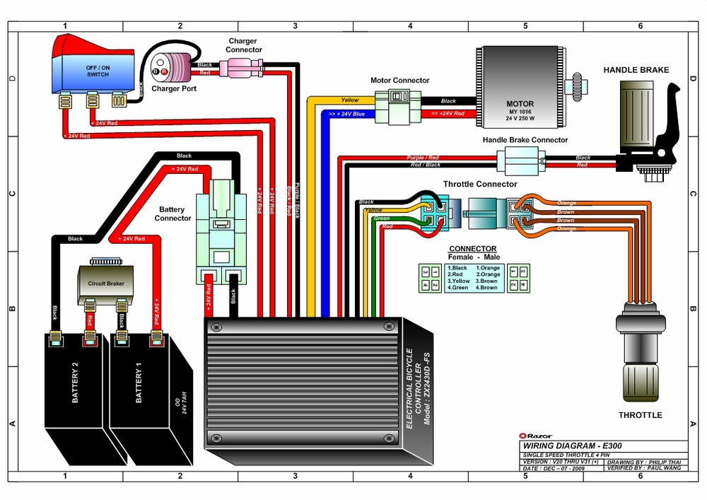 schwinn electric scooter battery wiring diagram elements compounds and mixtures diagrams razor e300s seated 24v with seat 300 watt