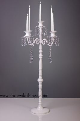 Quot Frances Quot Large White Tabletop Chandelier Candelabra 32