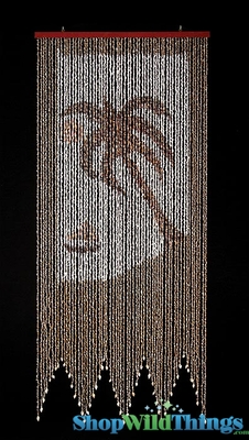 Palm Tree  Boat Real Shell Beaded Curtains