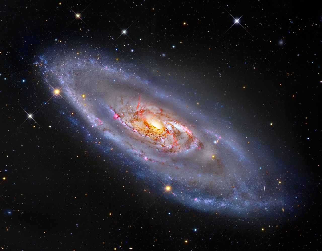 m106 hubble spiral with