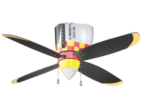 P51 Mustang Warbird Airplane Ceiling Fan Cool Aviation