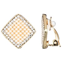 Square Pearl Earrings K062614 1 6 White Square Pearl ...
