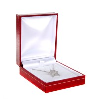Jewellery Gift Box For Necklace And Earrings Silver Pink ...