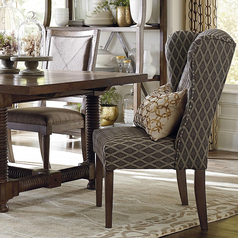 Wingback Dining Room Chairs Alden Upholstered Dining Wing Back Arm Chair