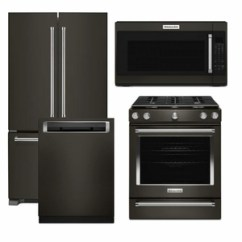 Kitchen Aid Stove Average Size Of Sink Package Kb2 Kitchenaid Appliance 4 Piece With Gas Range Black Stainless Steel