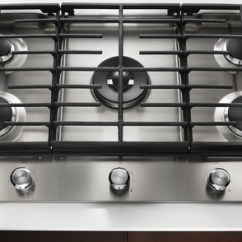 Kitchen Aid Cooktop Knobs And Handles Kitchenaid Gas Kcgs550ess Appliances Tips Review 30 5 Burner With Even Heat Simmer Stainless Steel