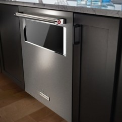 Kitchen Aide Dishwasher Slate Appliances Kdtm804ess Kitchenaid 44 Dba 24 With Window And Lighted Interior Stainless Steel