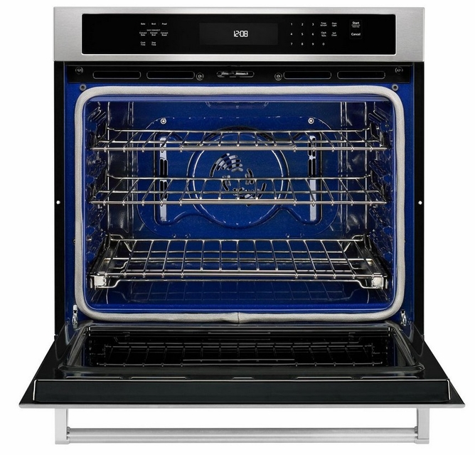 kose500ess kitchenaid 30 single wall oven with even heat true convection stainless steel