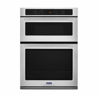 mmw9730fz maytag 30 combination microwave wall oven with true convection and power preheat fingerprint resistant stainless steel
