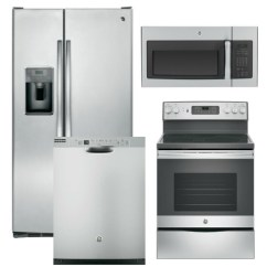 Lg Kitchen Appliance Packages Brushed Nickel Cabinet Hardware Electric Package 10 Ge 4 Piece With Range Includes