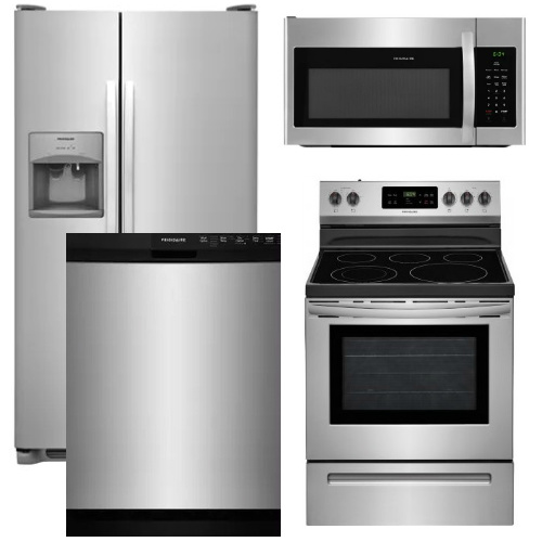 kitchen suite deals wood cabinets packages electric package 13 frigidaire appliance 4 piece with range stainless