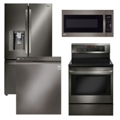 4 Piece Stainless Steel Kitchen Package Stick On Tile Backsplash Lgbd1 Lg Appliance With Electric Range Black Code 60500 18481 17140 14101 15056