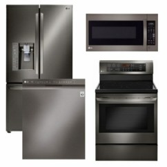 Lg Kitchen Suite Industrial Backsplash Package Lgbd1 Appliance 4 Piece With Electric Range Black Stainless Steel Code 60500 18481 17140 14101 15056