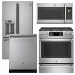 Kitchen Appliance Packages Stainless Steel Gold Package Cafe1 Cafe 4 Piece With Gas Range Includes Free Microwave
