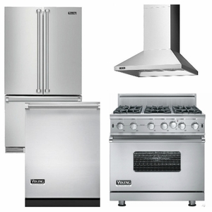 kitchen appliance packages stainless steel outdoor patio package v7 viking 4 piece luxury with gas range free dishwasher