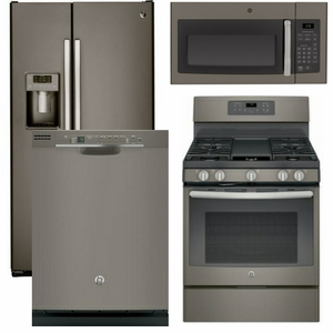 kitchen appliance suites sink base cabinets package 37 ge 4 piece with gas range includes free microwave slate code 60500 16561 18623 14534 17954 manufacturer