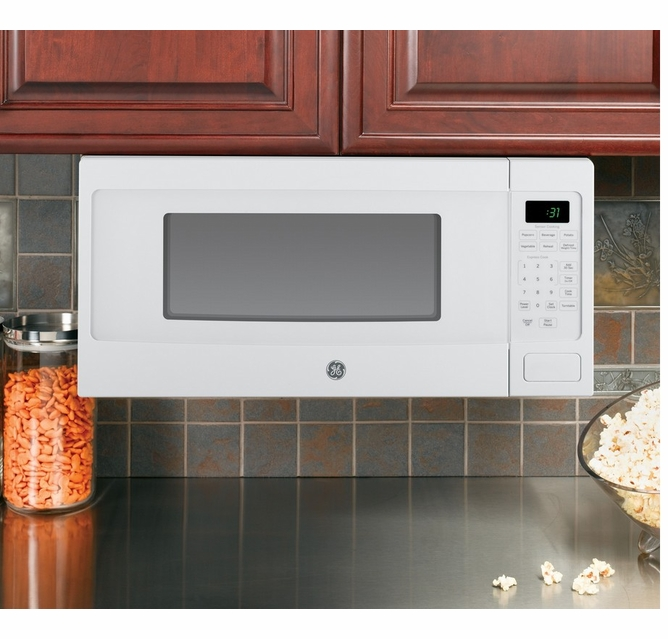 pem31dfww ge profile 24 1 1 cu ft countertop microwave with sensor cooking white