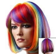 colored wigs - rainbow multi-colored