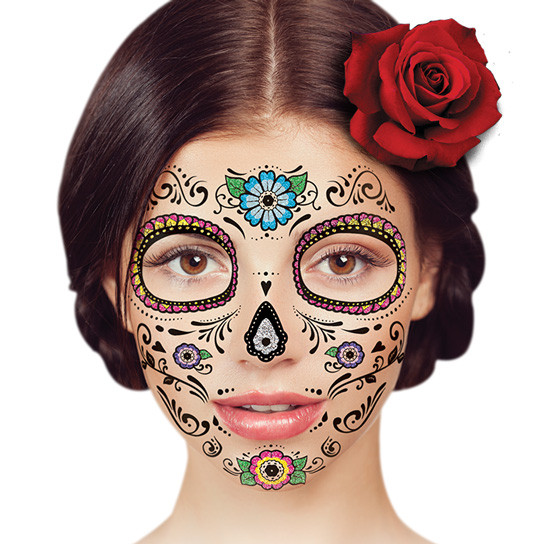 temporary face tattoo - floral