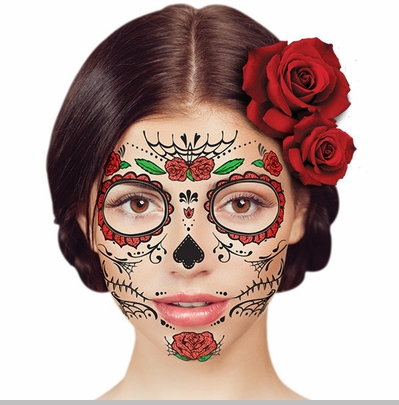 temporary face tattoo - day of