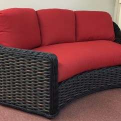 Cane Sofa Set Pictures Wide Seat Lake George Outdoor Wicker Curved