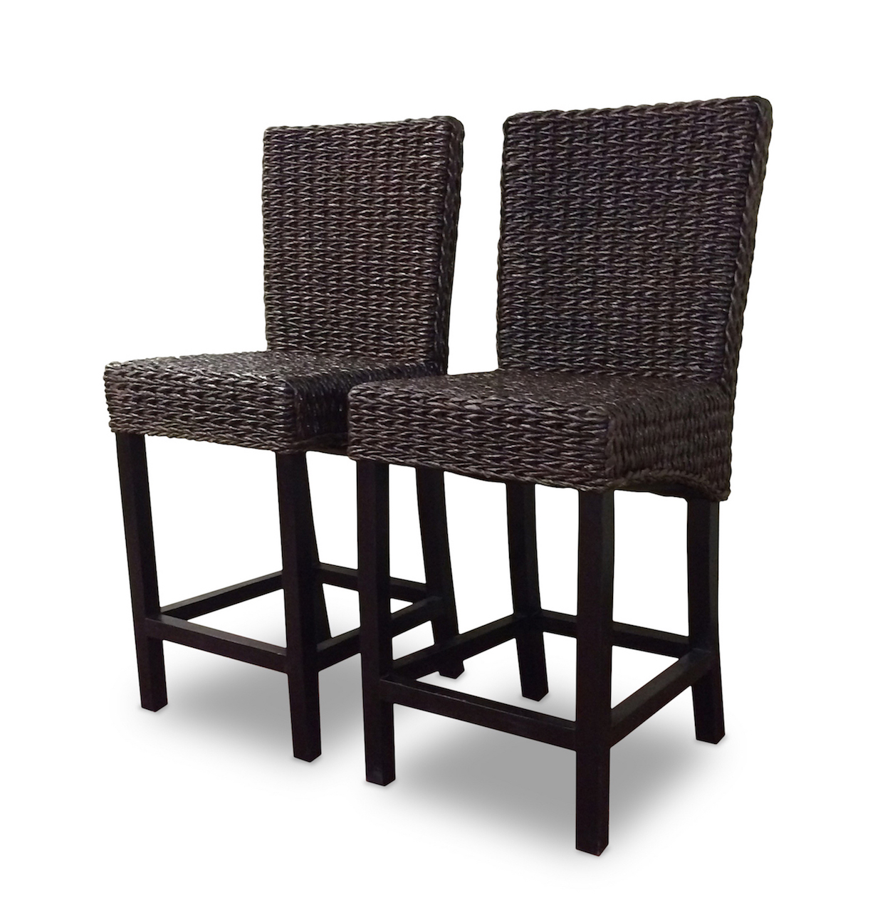seagrass dining chairs hon big and tall office bar stool set of 2 barbados
