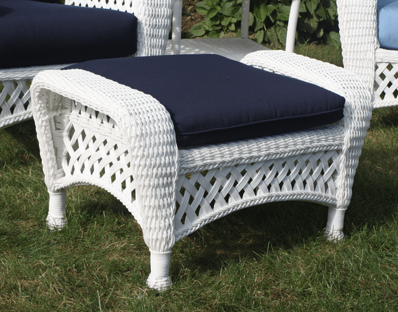 baja beach chairs wire dining room white outdoor wicker ottoman
