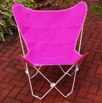 Buy Pretty Pink Cotton Foldable Butterfly Chair by Alogma
