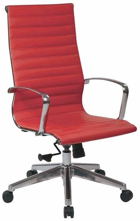 Office Star High Back Red Leather Office Chair  73029LT