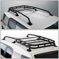 07-14 Toyota FJ Cruiser Black-Coated Aluminum Roof Rack ...