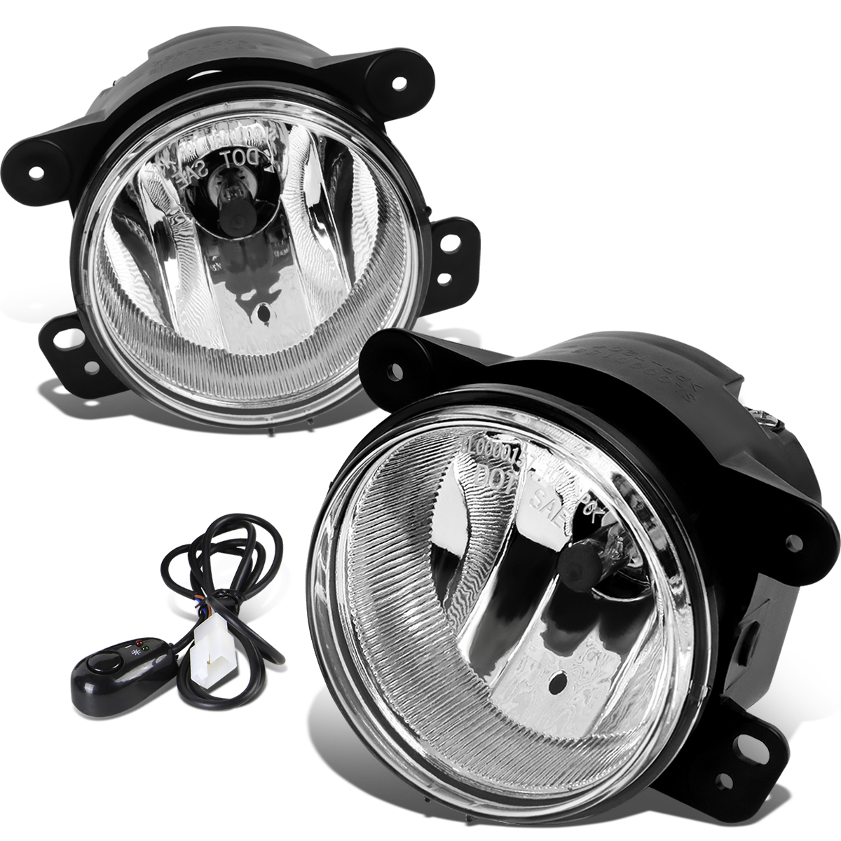 hight resolution of 07 17 jeep wrangler jk pair of driving bumper fog lights wiring harness