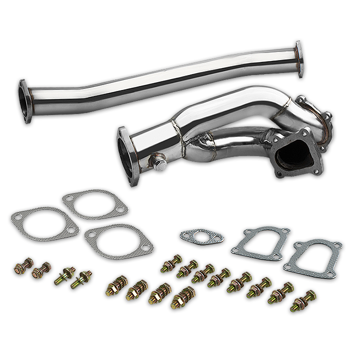 86-92 Toyota Supra Mk3/Mk Iii 1Jz-Gte Stainless Ss Twin