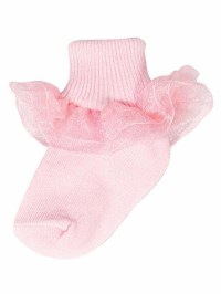 Baby Deer Pink Girls Ruffle Bootie Socks