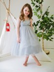 Silver Flower Girl Dress