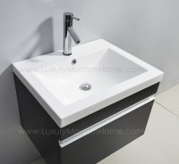 "ALEXIUS - 24"" Black Vanity Sink"