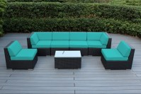 Ohana Outdoor Patio Wicker Furniture 7-Piece Sectional Set ...