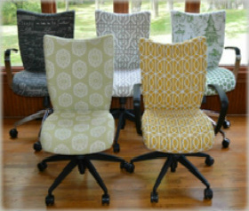 desk chair home office lime green recliner chairs upholstered custom cute use our fabric