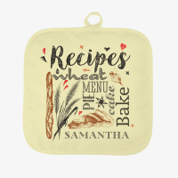 Custom Finds - Personalized Recipes Pot Holder - Shop Now