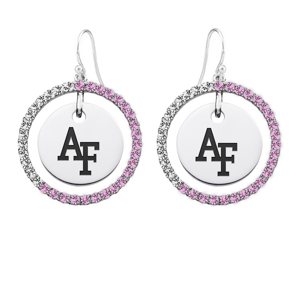 Wholesale Air Force Falcons Sterling Silver and Pink CZ
