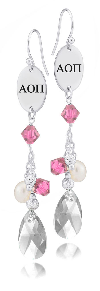 Wholesale Alpha Omicron Pi Pink Crystal and Freshwater