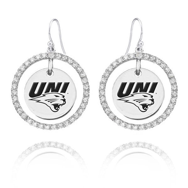 Wholesale Northern Iowa Panthers Sterling Silver and White