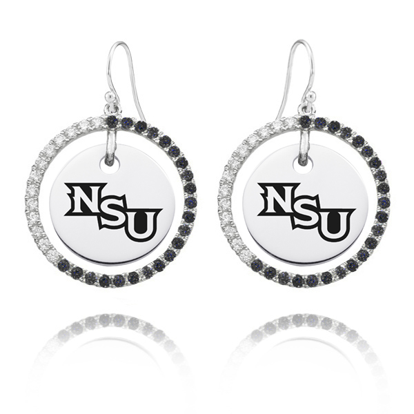 A traditional pair of circle earrings in combination with