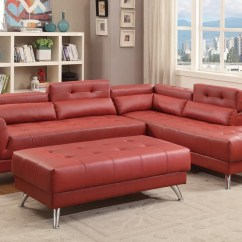Red Leather Sofas And Chairs 3 Seater Black Fabric Sofa Bed Abela Sectional Steal A Furniture