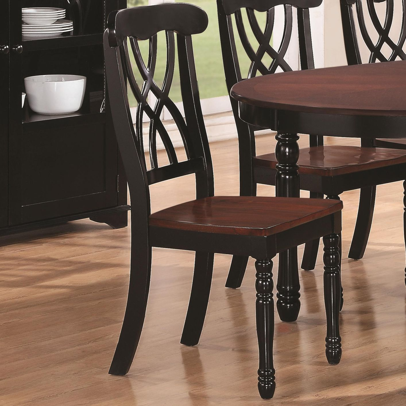 Cherry Wood Dining Chairs Addison Black And Cherry Wood Dining Chair Min Qty 2