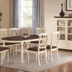 Cherry Wood Table And Chairs Best Budget Computer Chair Addison Buttermilk Dark Dining
