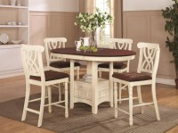 Addison White And Cherry Wood Pub Table Set - Steal-A-Sofa ...