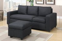 Black Fabric Sectional Sofa - Steal-A-Sofa Furniture ...
