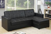 Black Leather Sectional Sofa Bed - Steal-A-Sofa Furniture ...