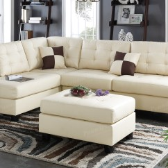 White Leather Sectional Sofa With Ottoman What Is Bed In Italian Beige And Steal A Furniture Outlet Los Angeles Ca